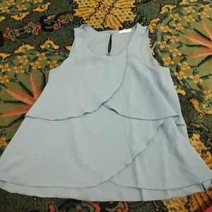 Teal layered tank top size L(14)